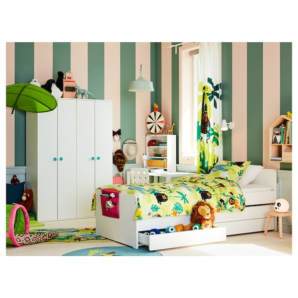 IKEA SLÄKT Bed frame with underbed and storage
