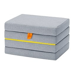 SLÄKT pouffe/mattress, foldable