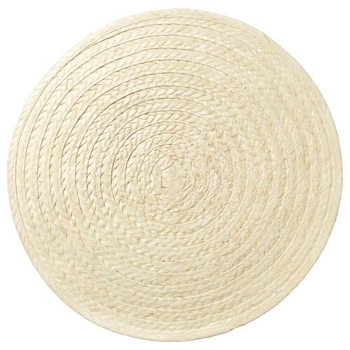 SLUTEN place mat palm leaf/natural 37 cm