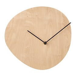 SNAJDARE wall clock, birch plywood