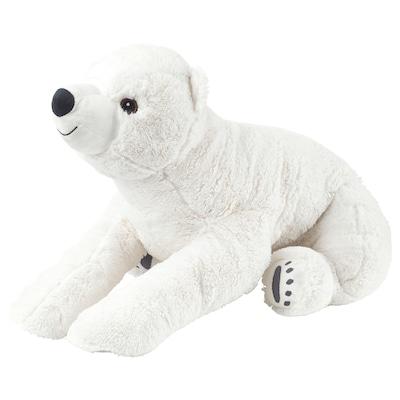 SNUTTIG Soft toy, polar bear/white