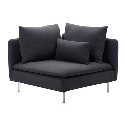 SÖDERHAMN Corner section IKEA SÖDERHAMN seating series allows you to sit deeply, low and softly with the loose back cushions for extra support.