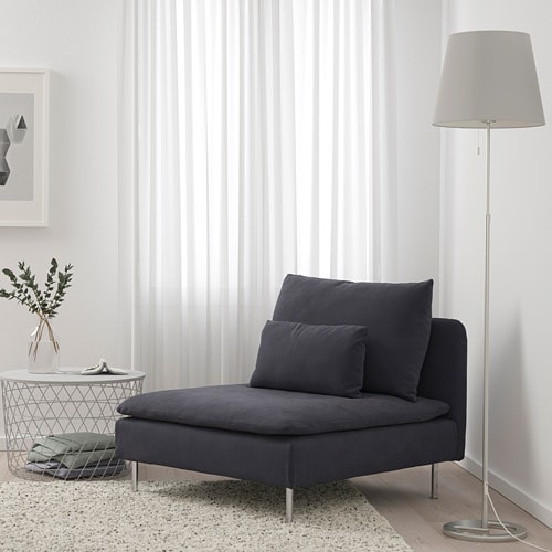 SÖDERHAMN 1-seat section IKEA SÖDERHAMN seating series allows you to sit deeply, low and softly with the loose back cushions for extra support.