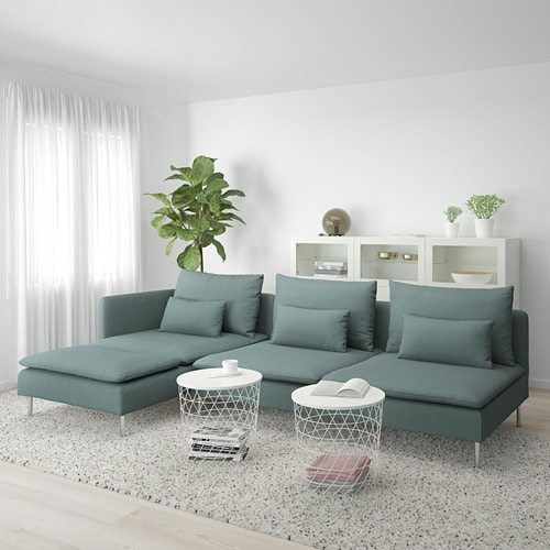 SÖDERHAMN 4-seat sofa IKEA SÖDERHAMN seating series allows you to sit deeply, low and softly with the loose back cushions for extra support.