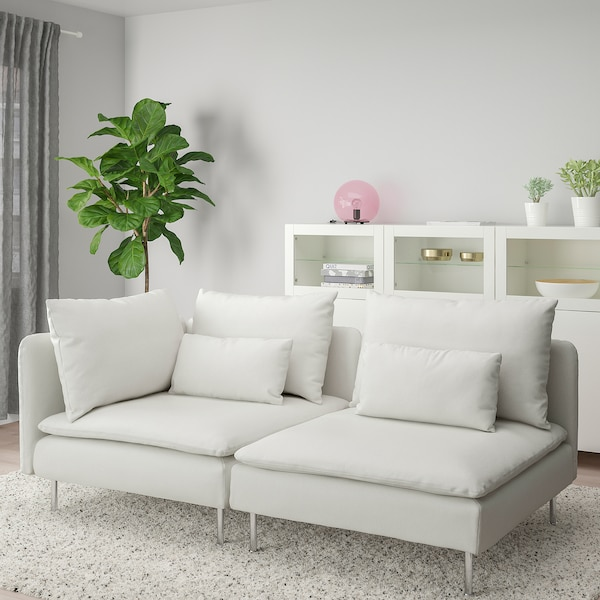 SÖDERHAMN 3-seat sofa, with open end/Finnsta white