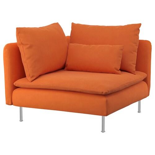 SÖDERHAMN corner section Samsta orange 99 cm 99 cm 83 cm 63 cm 48 cm 40 cm