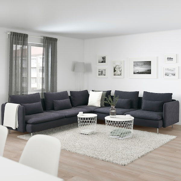 Corner Sofa 6 Seat Samsta Dark Grey