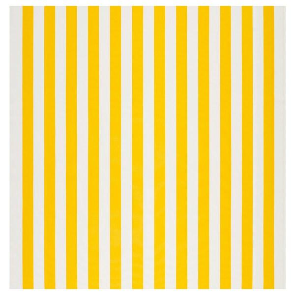 SOFIA fabric broad-striped/white/yellow 280 g/m² 150 cm 1.50 m²