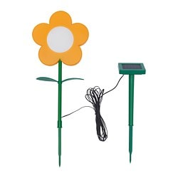 SOLVINDEN LED solar-powered ground stick, outdoor, flower yellow