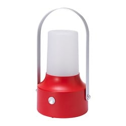 SOLVINDEN LED solar-powered lantern, outdoor, red