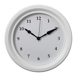SÖNDRUM wall clock, white