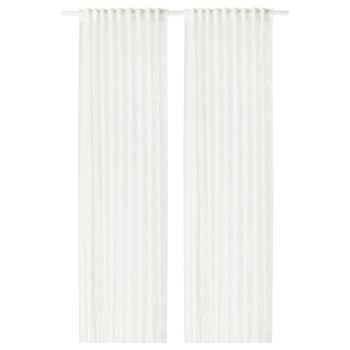 SPARVÖRT sheer curtains, 1 pair white 250 cm 145 cm 3.63 m² 2 pieces