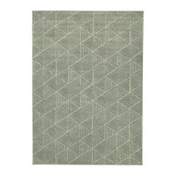STENLILLE rug, low pile, green