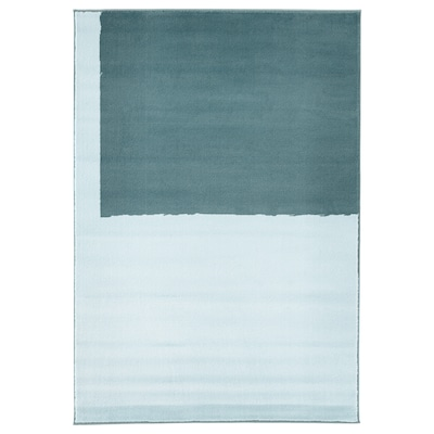 STILLEBÄK Rug, low pile, blue, 133x195 cm