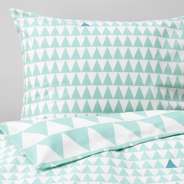 STILLSAMT Duvet cover and pillowcase, light turquoise, 150x200/50x80 cm