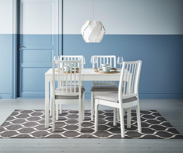 STOCKHOLM 2017 Rug, flatwoven, handmade/net pattern grey, 170x240 cm