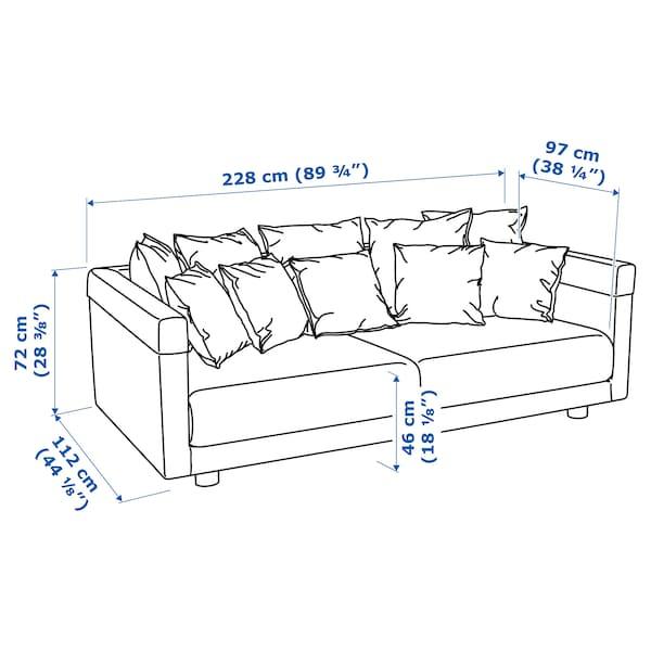 STOCKHOLM 2017 Three-seat sofa, Sandbacka dark blue