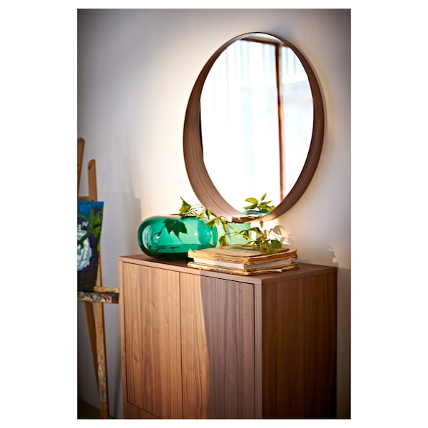 STOCKHOLM mirror walnut veneer 10 cm 80 cm