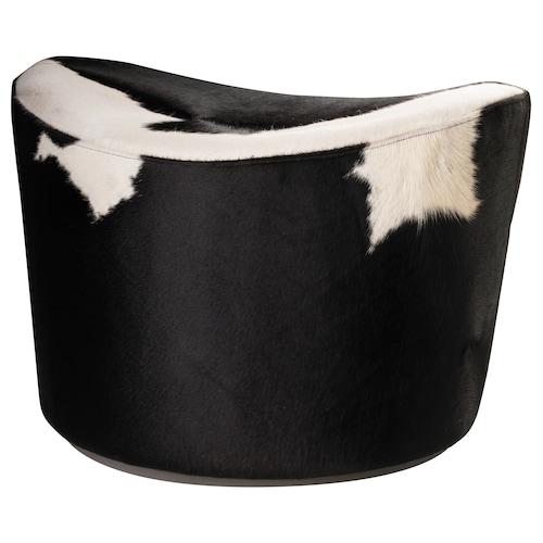 STOCKHOLM pouffe Delikat white/black 60 cm 51 cm 41 cm