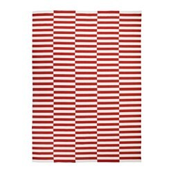 STOCKHOLM 2017 rug, flatwoven, striped handmade, striped white orange red