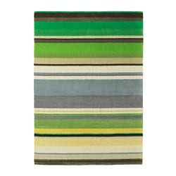 STOCKHOLM rug, low pile, handmade green green