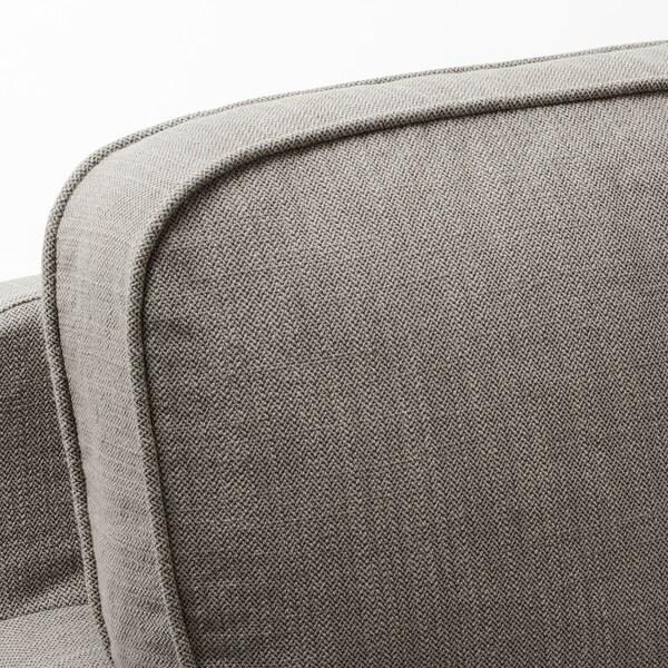 STOCKSUND 2-seat sofa Nolhaga grey-beige/light brown/wood 84 cm 73 cm 154 cm 97 cm 13 cm 122 cm 58 cm 46 cm