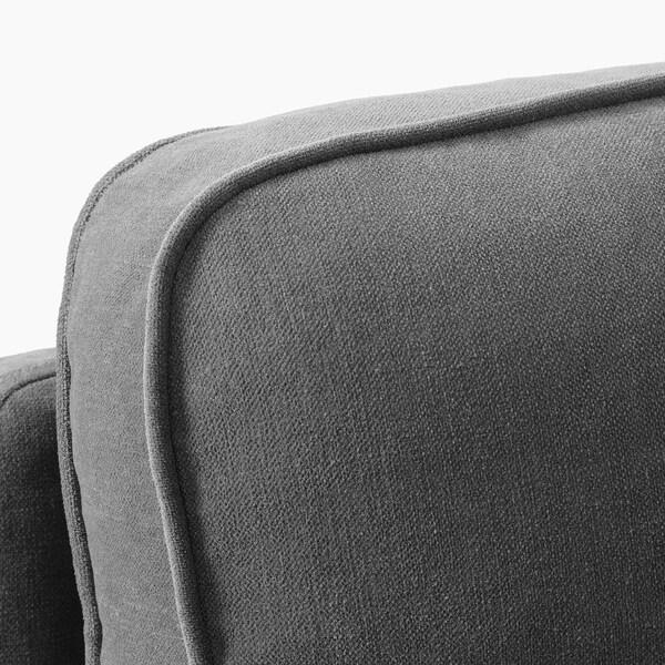 STOCKSUND Armchair, Ljungen medium grey/light brown/wood