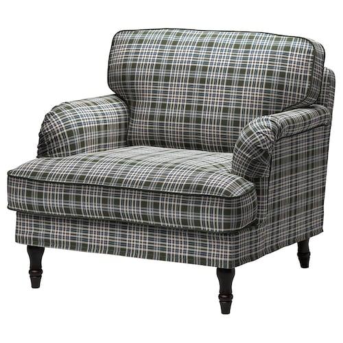 STOCKSUND armchair Segersta multicolour/black/wood 84 cm 73 cm 92 cm 97 cm 58 cm 46 cm