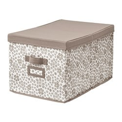STORSTABBE box with lid, beige