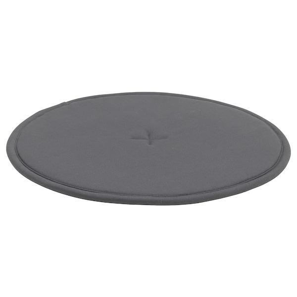 STRÅFLY Chair pad, dark grey, 36 cm