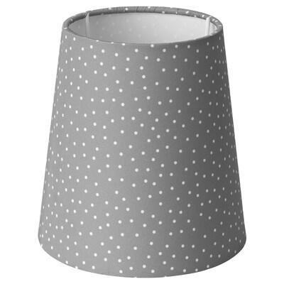 STRÅLA Lamp shade, spotted/grey, 15 cm