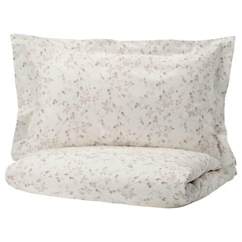 STRANDFRÄNE quilt cover and 2 pillowcases white/light beige 200 /inch² 2 pieces 230 cm 200 cm 50 cm 80 cm
