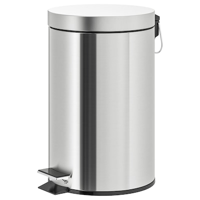 STRAPATS Pedal bin, stainless steel, 12 l