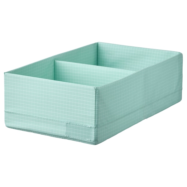 STUK Box with compartments, light turquoise, 20x34x10 cm