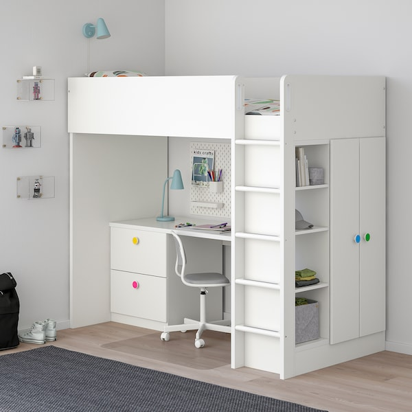 Stuva Folja Loft Bed Combo W 2 Drawer 2 Doors White Ikea