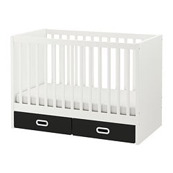 STUVA /  FRITIDS cot with drawers, blackboard surface