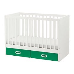 STUVA /  FRITIDS cot with drawers, green