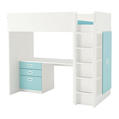 STUVA / FRITIDS Loft bed combo w 3 drawers/2 doors