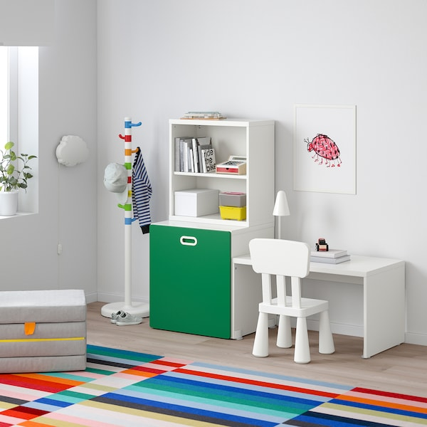 Stuva Fritids Table With Toy Storage White Green Ikea