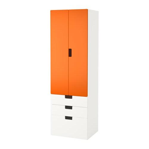 STUVA Storage combination w doors/drawers - white/birch - IKEA