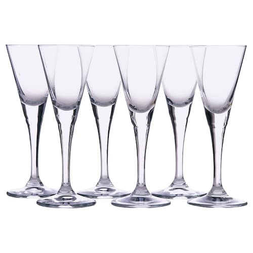 SVALKA snaps glass clear glass 14 cm 4 cl 6 pieces
