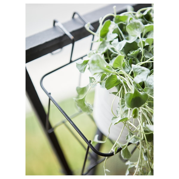 SVARTPEPPAR Plant pot holder, in/outdoor black, 45x16 cm