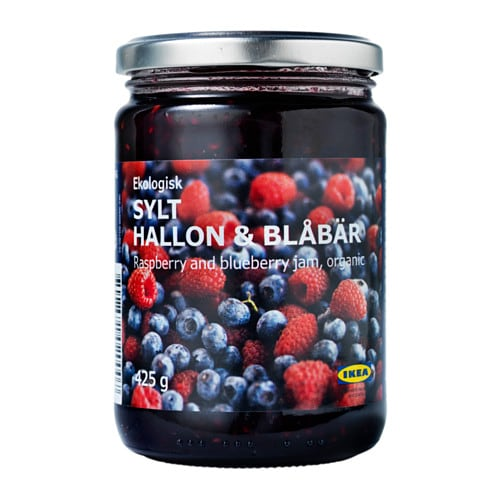 SYLT HALLON & BLÅBÄR Rasp- and blueberry jam