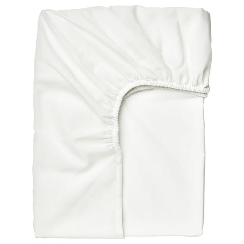 TAGGVALLMO fitted sheet white 100 /inch² 200 cm 90 cm 16 cm