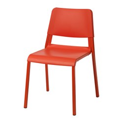 TEODORES chair, bright orange