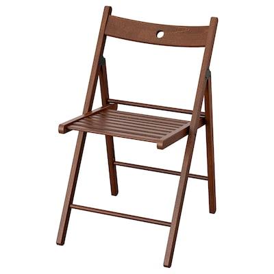 TERJE Folding chair, brown