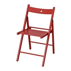 TERJE folding chair, red