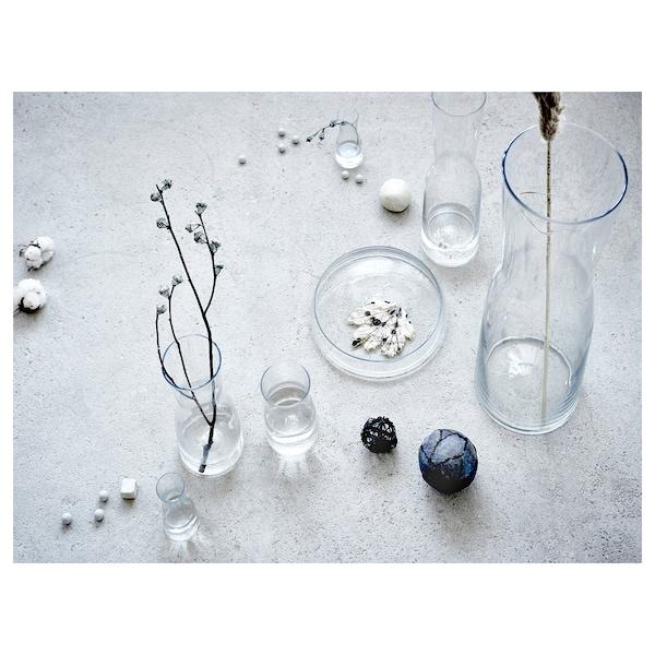 TIDVATTEN Vase, clear glass, 14 cm
