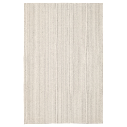 TIPHEDE rug, flatwoven natural/off-white 180 cm 120 cm 2 mm 2.16 m² 700 g/m²