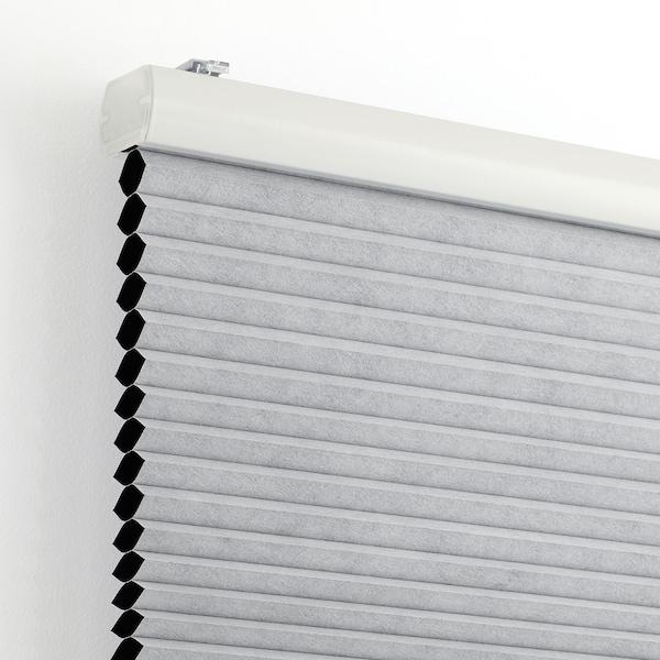 TRIPPEVALS Block-out cellular blind, light grey, 60x195 cm